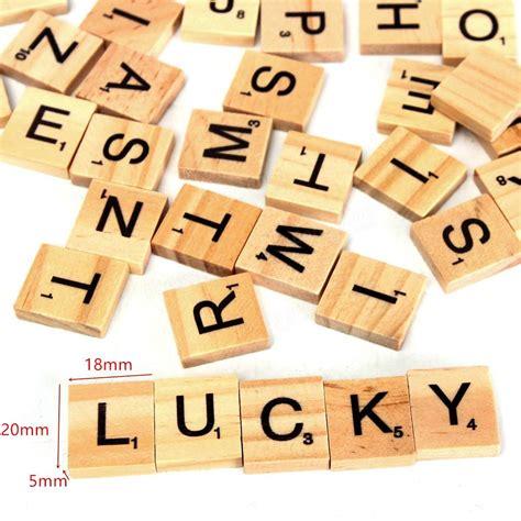 p scrabble words 100pcs wooden scrabble letters scrapbooking