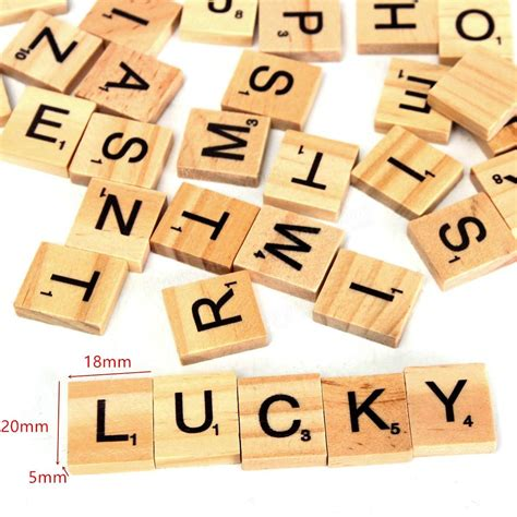 oa scrabble 100pcs wooden scrabble letters scrapbooking