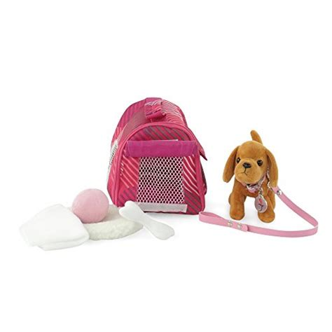 american doll puppy 18 inch doll accessories brown with pet carrier set import it all