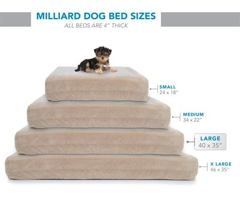 Memory Foam Dog Bed With Waterproof Cover X Large