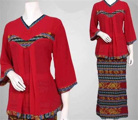 Setelan Wanita Atasan Plus Rok ッ 29 model baju batik setelan wanita kombinasi rok panjang modern