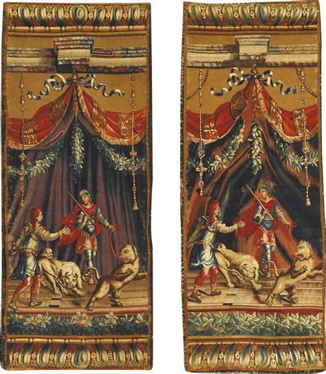 Tapisserie De Beauvais by Paire De Tapisseries Entre Fen 234 Tres De La Manufacture