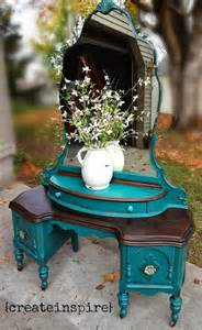 Vanity Teal Hometalk Refinished Antique Vanity In Teal