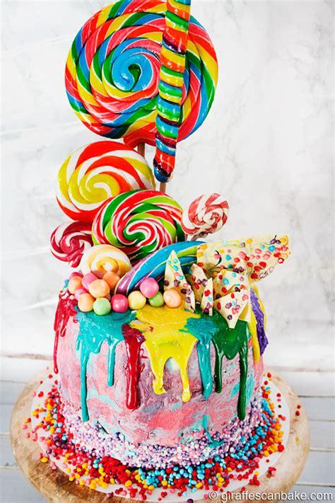 Birthday Cake Lolipop Plastik Murah rainbow lollipop birthday cake giraffes can bake