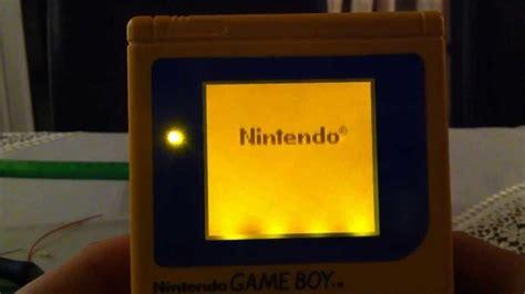 gameboy color backlight backlight a nintendo gameboy dmg 01 tutorial how to