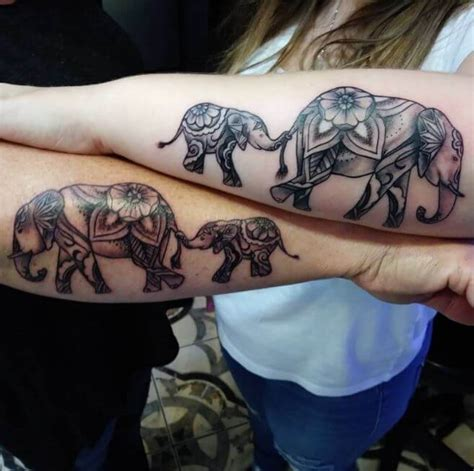 mother daughter elephant tattoos 115 meaningful tattoos ideas 2018