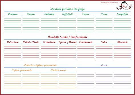 lista spesa alimentare lista della spesa da scaricare e stare lista da