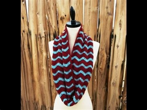 infinity scarf pattern knit youtube chevron infinity scarf cowl free pattern workshop youtube