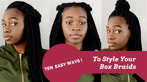 how to style your box braids youtube how to style box braids 2017 youtube