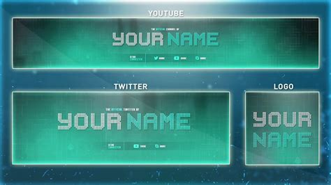 Tech Youtube Banner Template Psd Banner Logo Twitter Psd 2016 Youtube Technology Banner Template