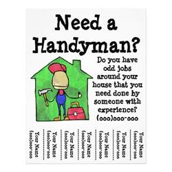 free handyman flyer template handyman flyer zazzle