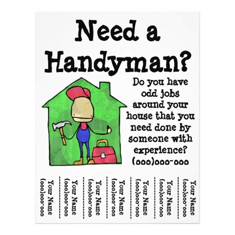 free templates for handyman flyers handyman flyer zazzle