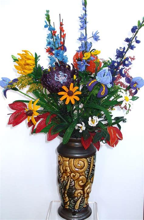 beaded flower arrangements beaded flower arrangement beaded flowers