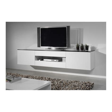 Banc Suspendu by Banc Tv Suspendu Meuble Tv Laqu 233 Blanc Trendsetter