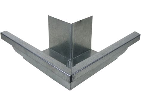 K Style Galvanized Gutters - k style miters are used for connecting two pieces of k