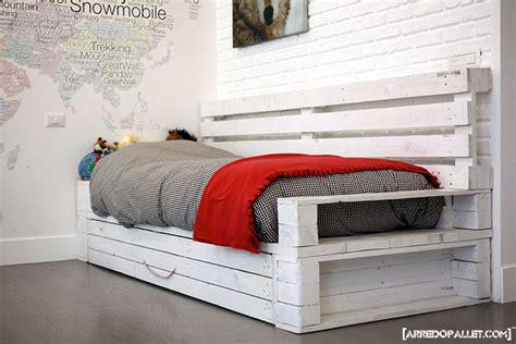 letto in pallets camere da letto in pallet riciclo