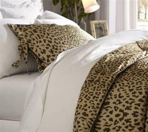 leopard print comforters leopard comforter sham pottery barn