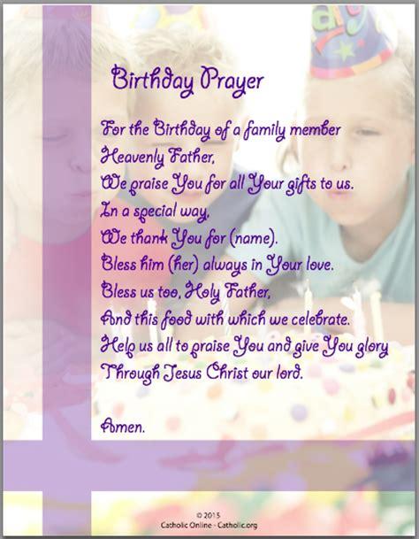 Birthday Prayer For by Prayers Birthday Prayer Catholic Shopping