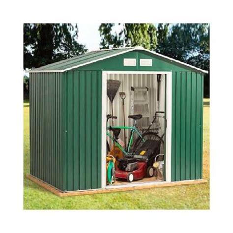 duramax rosedale metal shed green wft  dft