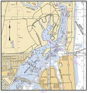 intracoastal waterway biscayne bay nautical chart νοαα