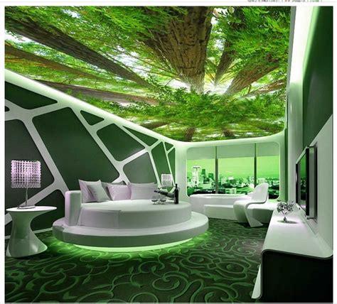 rainforest decke benutzerdefinierte 3d fotowand papier wald himmel 3d