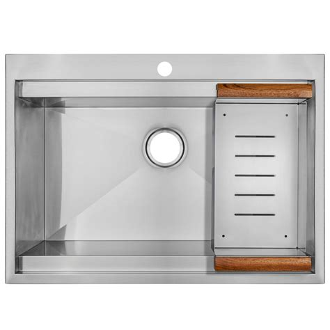 kitchen makeovers drop in stainless steel kitchen sinks corner glacier bay all in one drop in stainless steel 33 in 2