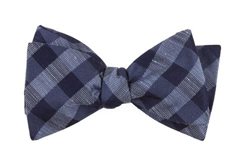 Bow Tie slate blue hale checks bow tie ties bow ties and