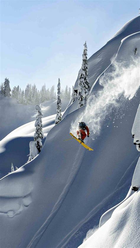 wallpaper skiing alaska  photography