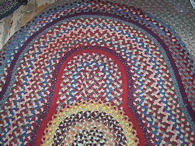 antique braided rugs antique vintage handmade folk wool braided rug 3 8 quot x 5 3 quot
