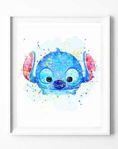 Piyama Katun Tsum Tsum Watercolor tsum tsum stitch lilo watercolor print par neighborarts sur etsy tsum tsum