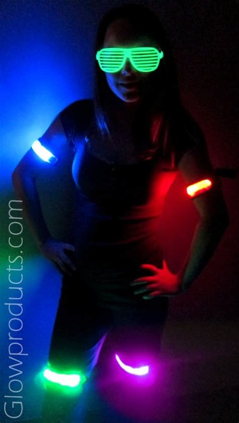 sports and safety led arm bands glow products and