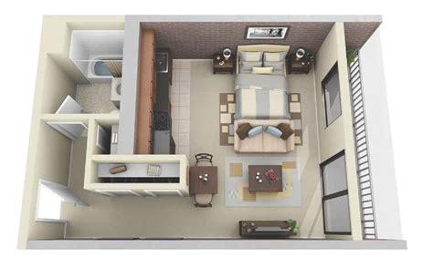 studio apartment 3d floor plans 50 studio apartment floor plans