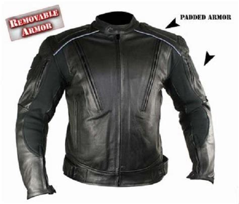 padded leather motorcycle jacket s advanced armored padded black motorcycle jacket size m