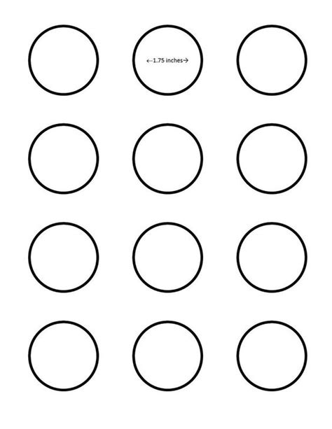 macaron 1 75 inch circle template google search i saved