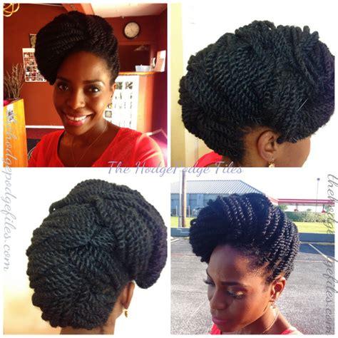 kinky twist hairstyles updo kinky twists updo veepeejay