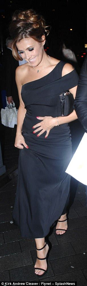 kym marsh 39 shows off her curves in leather pencil skirt kym marsh shows off her hourglass curves at charity ball