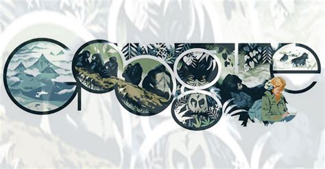 doodle dian doodle pays tribute to zoologist dian fossey