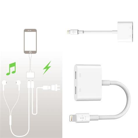 Adaptor Iphone 7 Lightning Cable Port Audio Audio Adaptor Headset belkin unveils the lightning audio charge rockstar