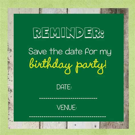 save the date birthday card template save the date templates free