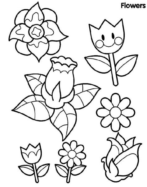 coloring pages of different types of flowers rože 24 pobarvanke