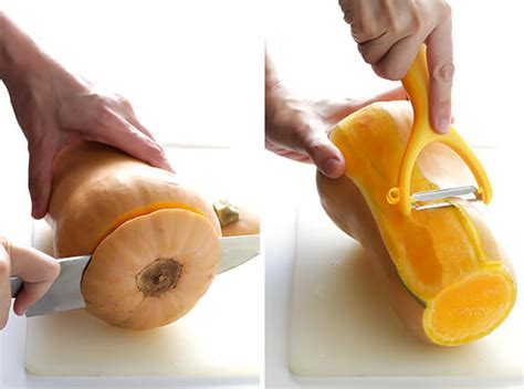 step by step of pictures how to cut short hair layered how to peel and cut butternut squash gimme some oven