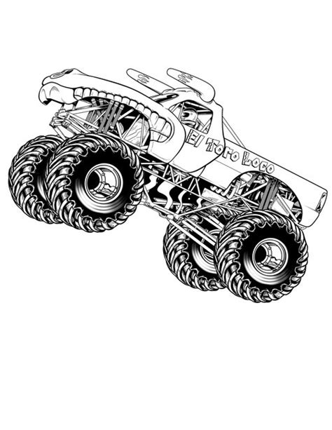 coloring pages of a monster truck monster truck coloring pages for kids gt gt disney coloring pages