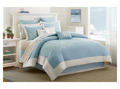 beach cottage bedding harbor house coastline comforter set cal king shipped
