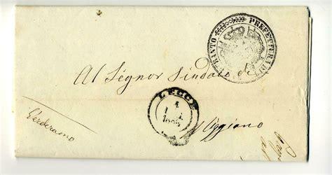 lettere lecce lettere nel salento 1862 1864 con timbro borbonico