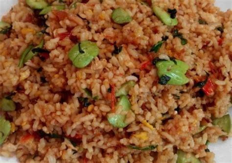 membuat nasi goreng pedas manis resep nasi goreng pete pedas