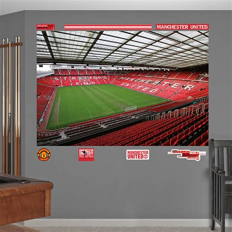manchester united wall murals inside trafford mural wall decal shop fathead 174 for manchester united decor
