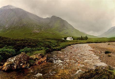 glencoe cottage glencoe glencoe scotland white cottage and