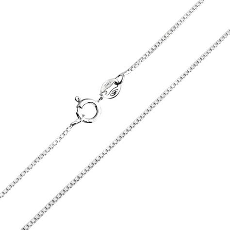 925 sterling silver unisex box link chain necklace 19
