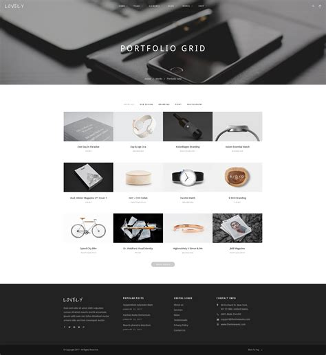 Lovely Creative Multi Purpose Psd Template By Playskull Themeforest Portfolio Grid Template