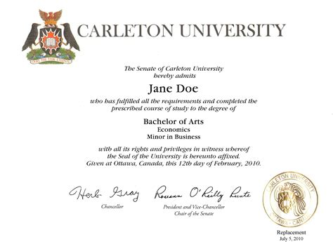 college degree certificate sle quotes